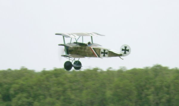 Fokker Triplane Flying