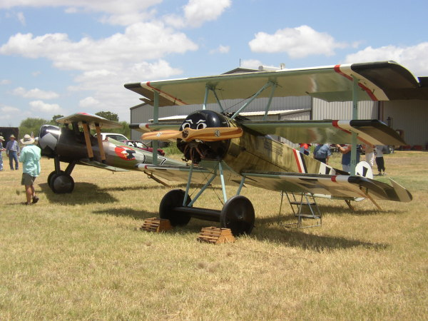Nieuport and Fokker parked together
