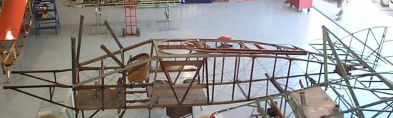 F.2B fuselage top view