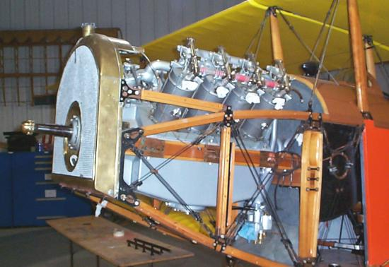 Canuck engine, mounted in place
