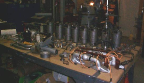Canuck engine, disassembled
