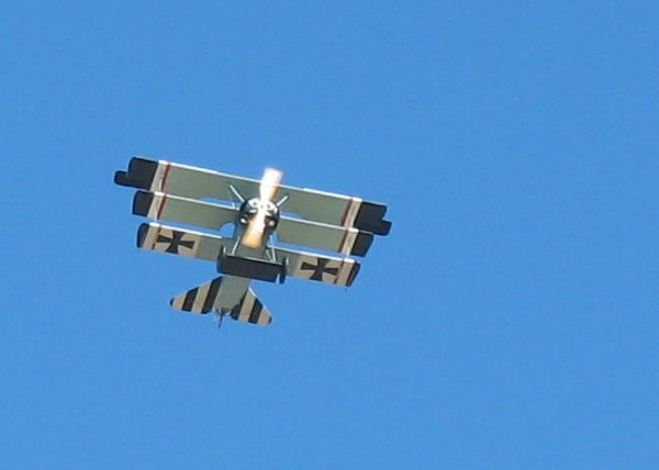 The Triplane in flight