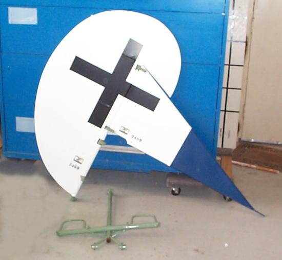 Painted rudder, fin, and rudder control bar