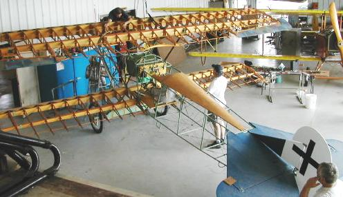 Fokker D.VII from above
