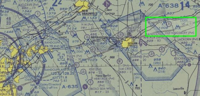 Sectional Chart for Old Kingsbury