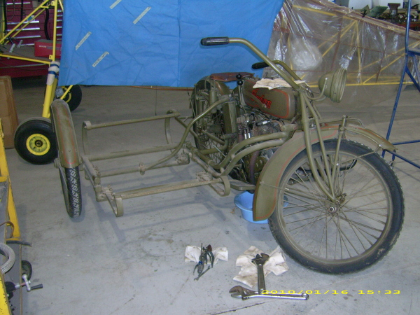 Indian with sidecar body off