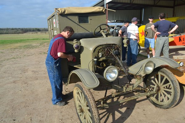 Prepping a Model T for engine installation