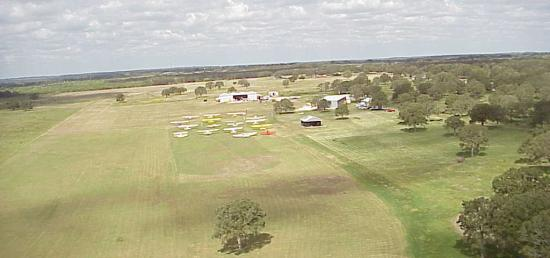 Aerial view of fly-in