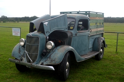 Visiting 1930s pickup truck