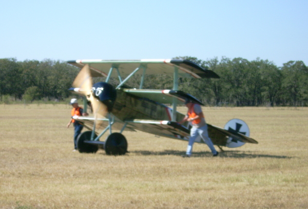 Fokker Dr.I taxiing out for flight